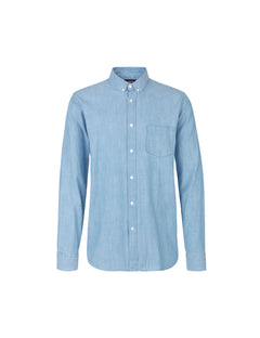 Washed Indigo Sal Button Down, Indigo Bleach