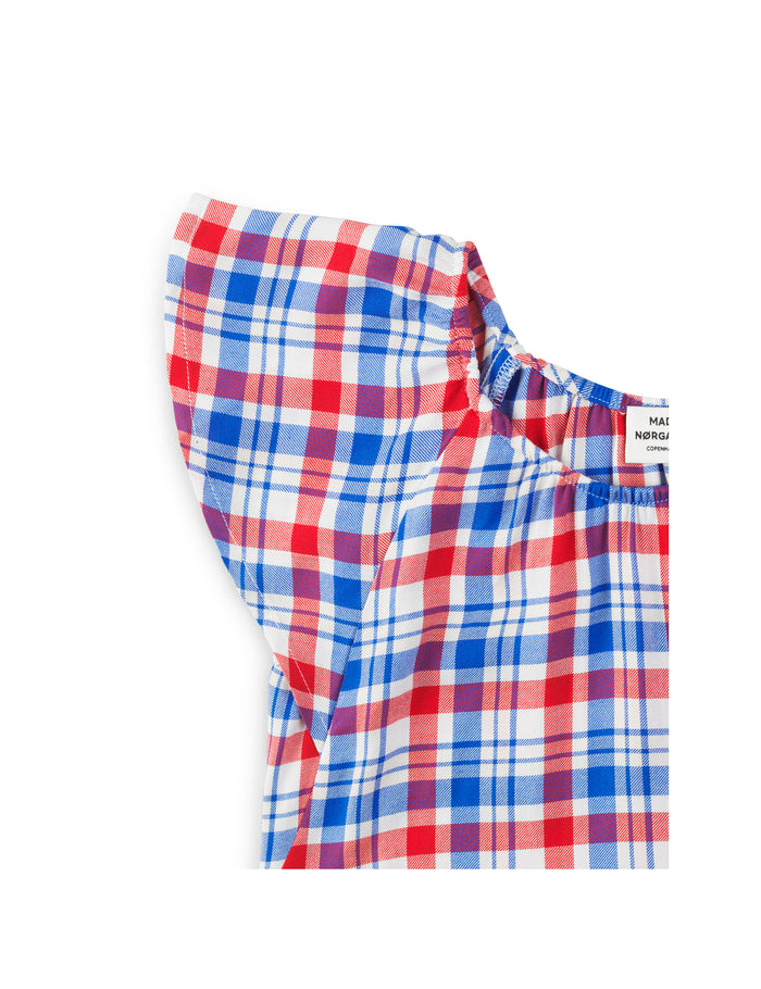 Viscose Check Safrina, Red/Blue
