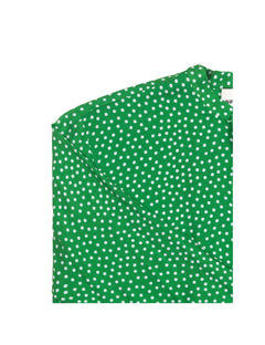 Viscose Play Saxona cuff, Green dot