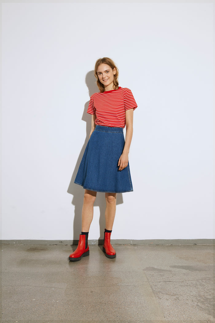 Single stripe Trenda, Red/Ecru