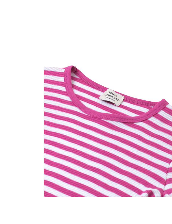 2X2 Soft Stripe Talino, Deep Pink/White