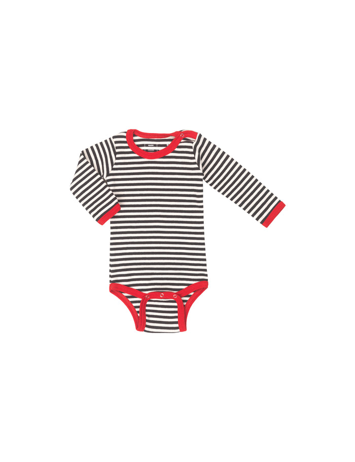 Duo Rib Body, Black/Ecru/Red