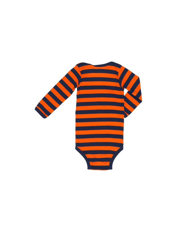 Midi Rib Body, Navy/Orange