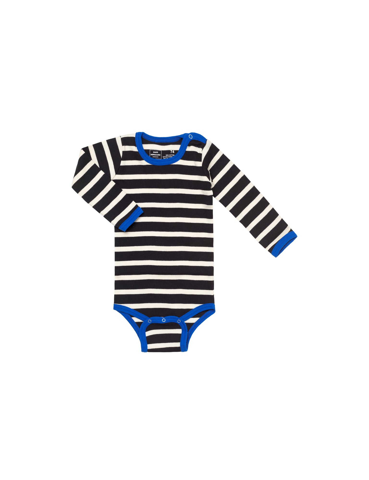 Trio Rib Body, Black/Ecru/Blue