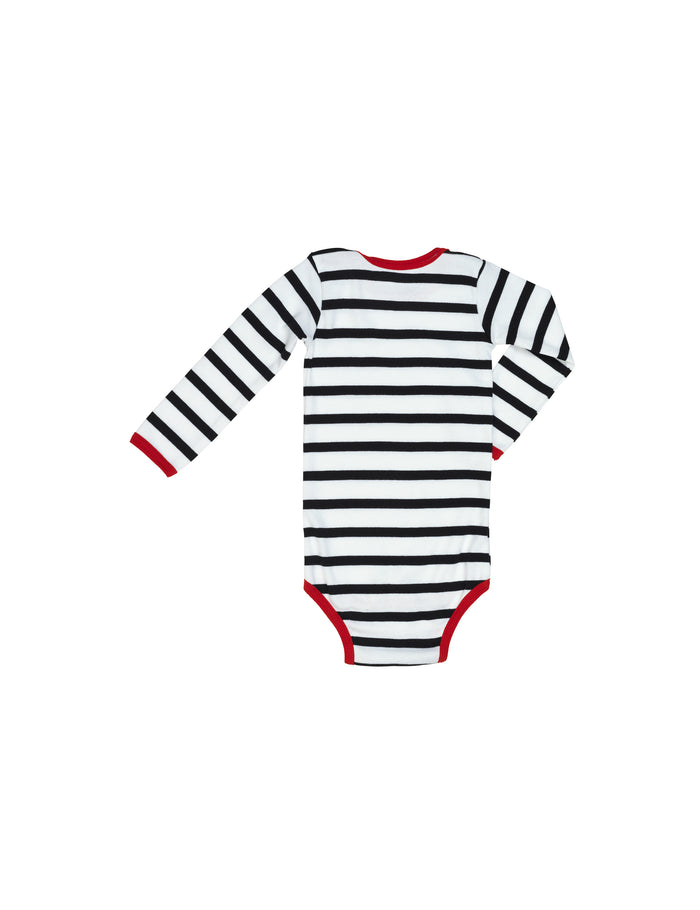Trio Rib Body, Black/White/Red