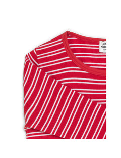 2X2 Duo Stripe Talino, Bright Red/White