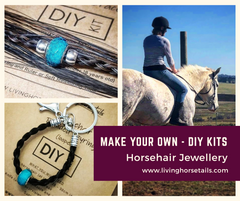 Make your own horse tail hair jewelry jewellery diy kits