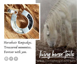 Gorgeous jewellery, made with your horsehair or mine, to wear + cherish.