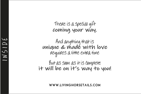 Your Special Gift Is Coming - Print Out – Living Horse Tails