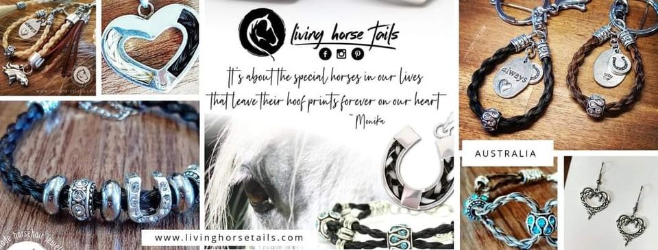 Horsehair Jewellery and Keepsakes by Monika at Living Horse Tails Australia banner