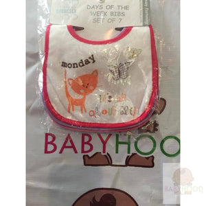 Days of the Week Bibs. 7 pack