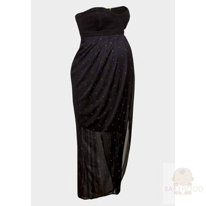 Rock a Bye Rosie Black Bandeau Maxi Maternity Dress