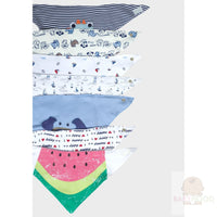 Baby Girls Assorted Triangle Bibs