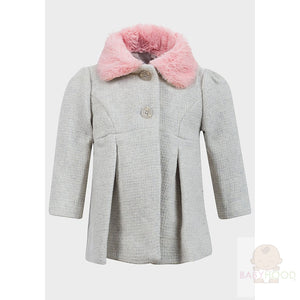 Minoti Grey Infant Fur Coat
