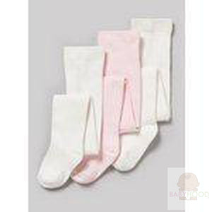Pink and cream Tights 3 Pack