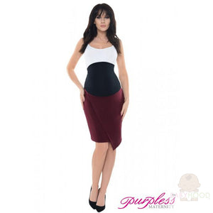 Purpless formal asymetric skirt