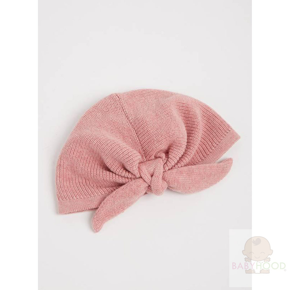 Pink Knitted Turban-Style Hat
