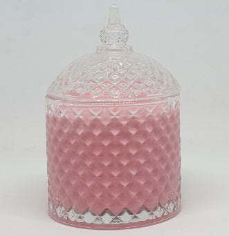 Cupola Jar - Clear with Coloured Wax - A- L
