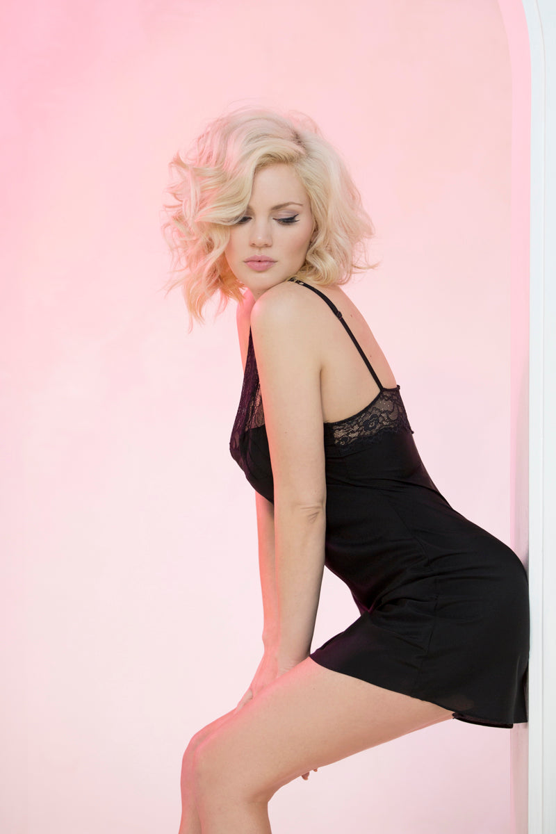 Monroe Nightie Black - Pom Lampson
