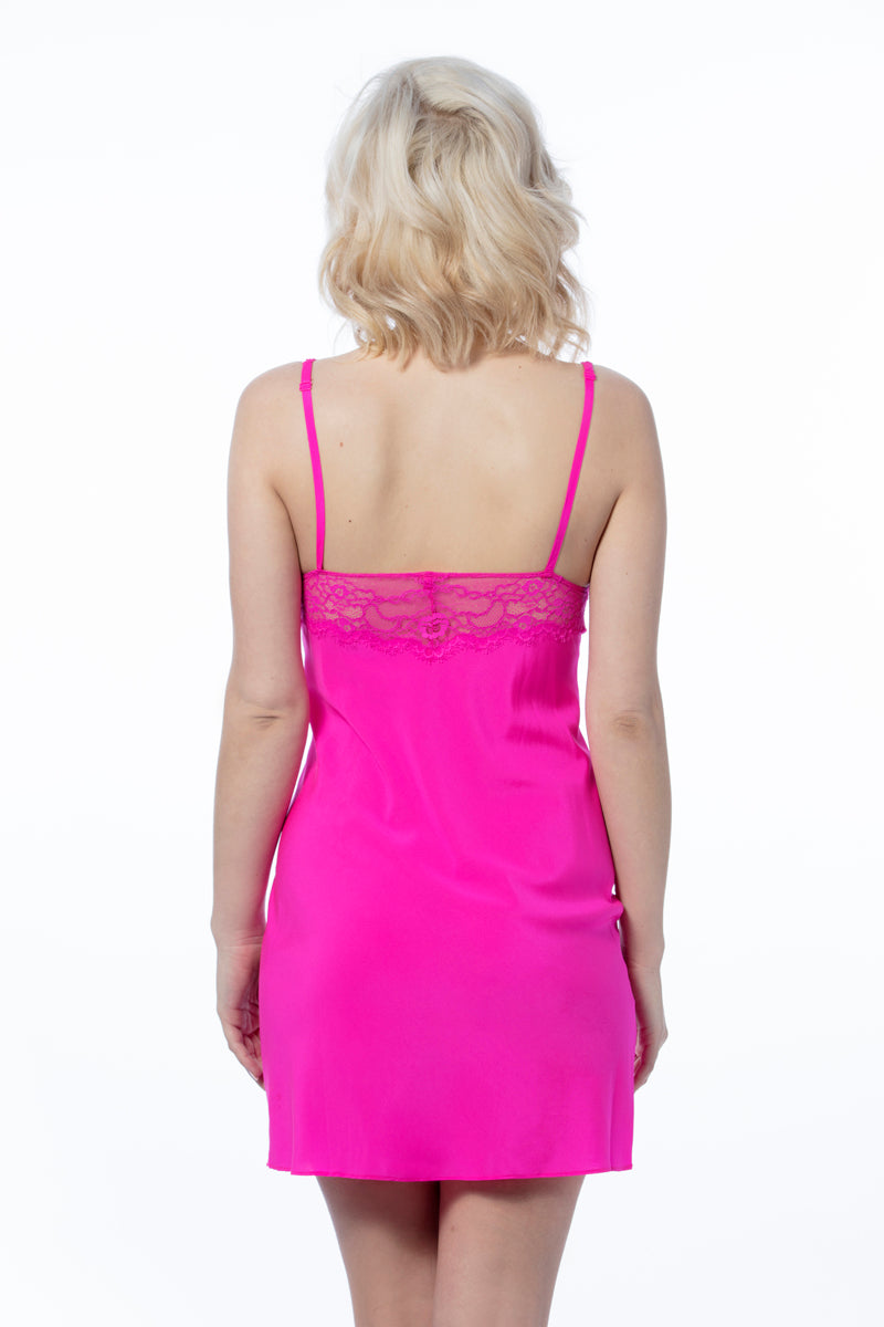 Monroe Nightie Hot Pink - Pom Lampson