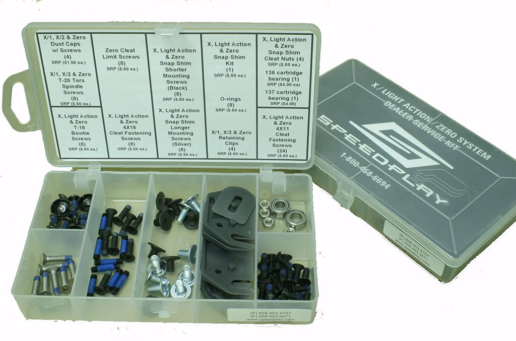 Speedplay Zero/Ultra Light Action X Dealer Service Kit - V2