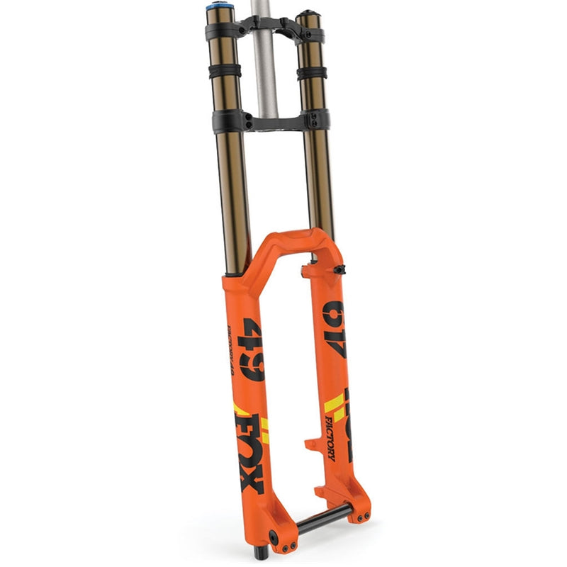 Fox Racing Shox 2020, 40,K , Float, 29in F-S ,203, Grip 2 HSC, LSC, HSR ,LSR , Shiny Orange, Blk Yellow Logo  20TAx110