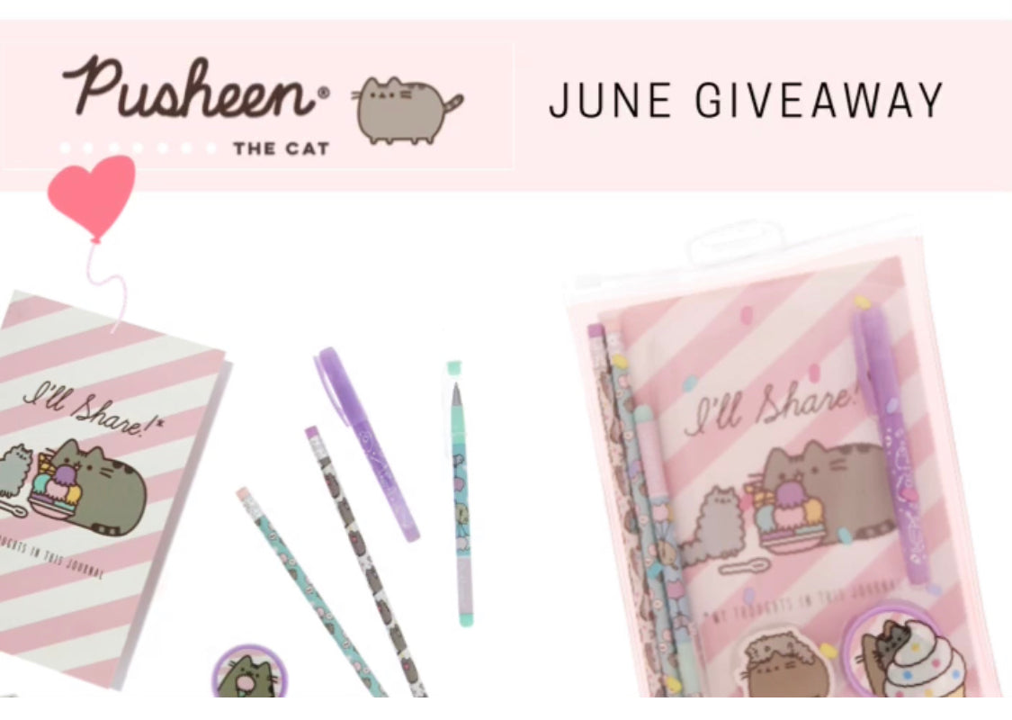 Pusheen stationery giveaway