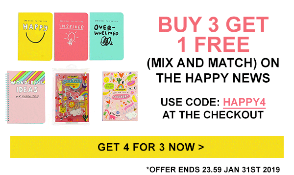 Buy 3 get 1 free on The Happy News