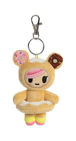 Tokidoki Donutella Plush Key Ring Clip 4.5 inch