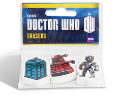 Doctor Who Eraser Set
