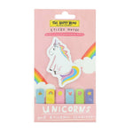 happy news unicorn sticky notes