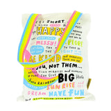 Happy News canvas tote bag
