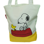 Peanuts Snoopy and Woodstock Canvas Tote Bag
