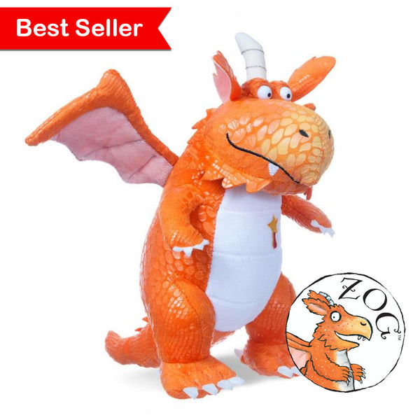The wonderful Zog the friendly orange dragon soft toy