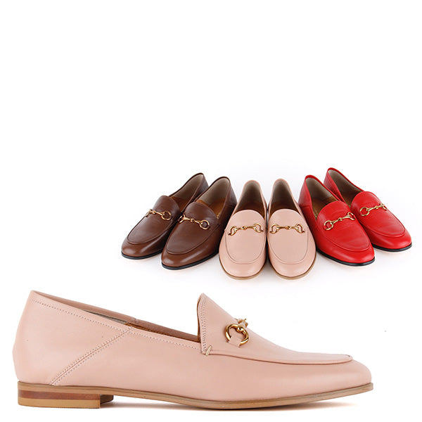 *ROCHELLE - Loafer flat, brown, 2cm size UK 2