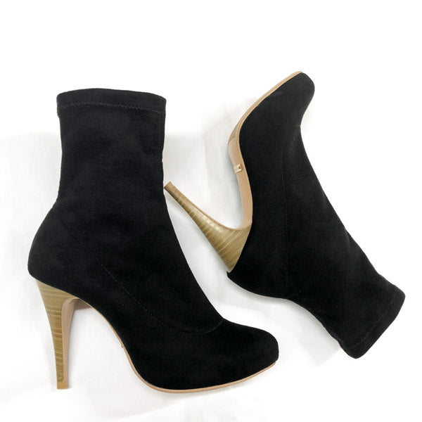 *SOCK ankle boot sample, black, 10cm with 1cm platform, size UK 2.5