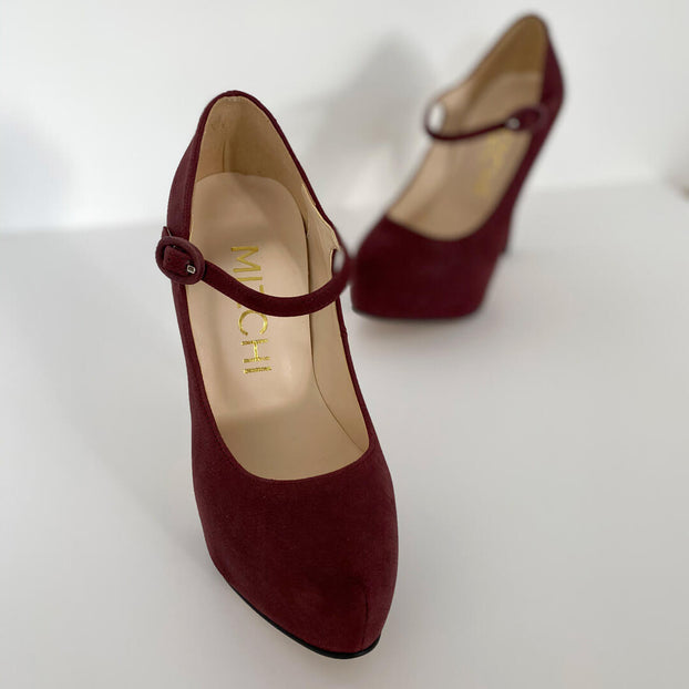 BOSS CAT HIGH - wine nubuck
