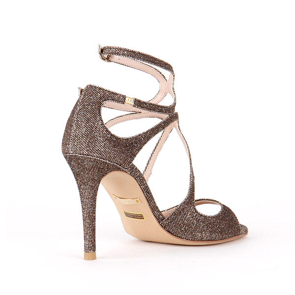 *CONFESSION - shimmer bronze, 8cm size UK 2