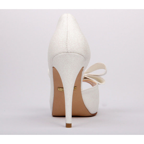 *FIRST MOMENT - white sparkle, 7cm, size UK 13