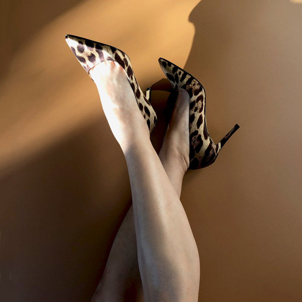 *LONDON HEEL - leopard