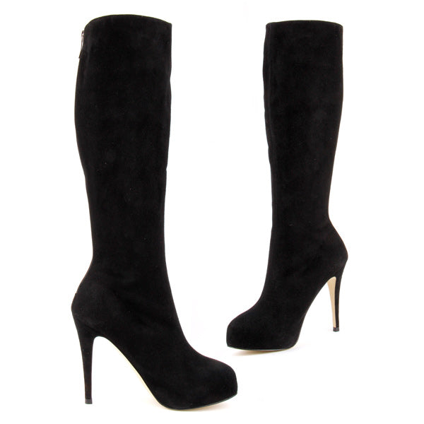 *PASHA suede - black, 9/1cm, size UK 2.5