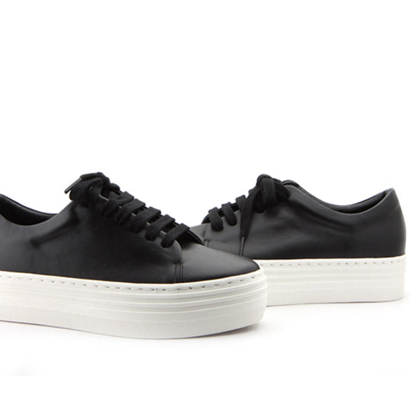 *PEPERO  - sneakers, 3.5cm flatform, black, size UK 3