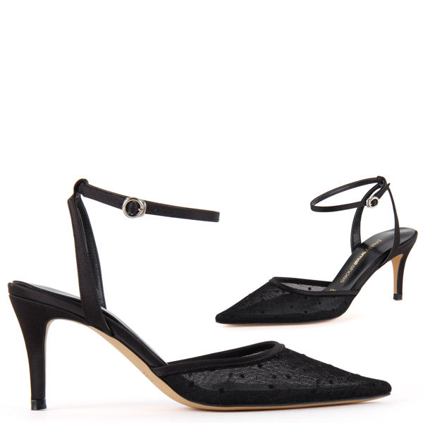 1415e1f88f8 Petite Size Day To Nite Elegant Black Mid Heel Hout by Pretty Small ...