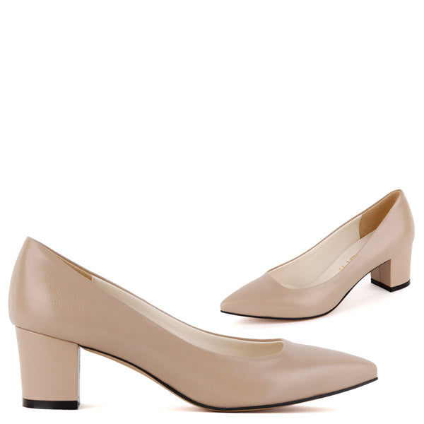 *COURTNEY - beige leather UK 13 with ankle strap