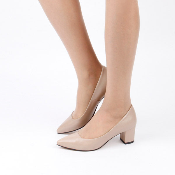*COURTNEY - beige leather