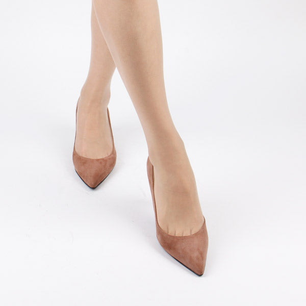 *RILEY - chiffon brown, 6cm, size UK 1