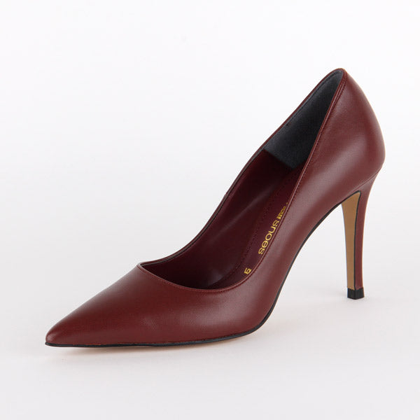 *ROSE AVENUE - AW17 Court, wine,  9cm, size 34.5