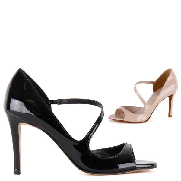 *SONATE - black patent, 9cm, size UK 13