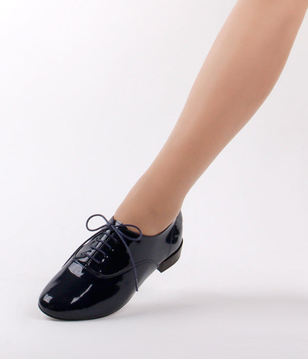 *AIR-PATENT FLAT, navy, size 34.5