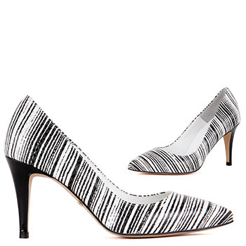 48b0a5542b28 Petite US size 3 leather Stripey Pumps - Madeline - by Pretty Small Shoes